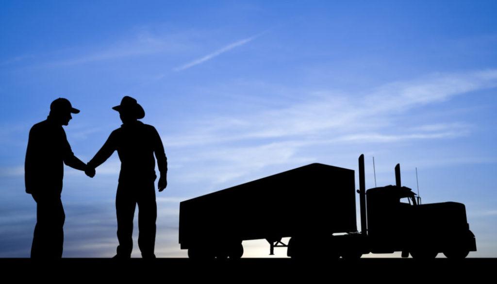 Cowboy Trucker Handshake