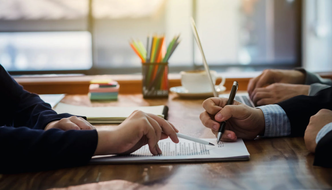 Businessman signed a contract agreement to invest together