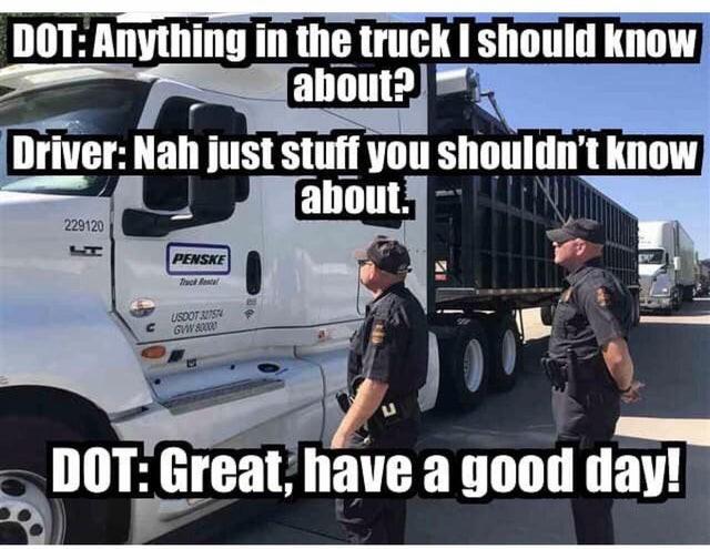Truck Memes - DOT Stop