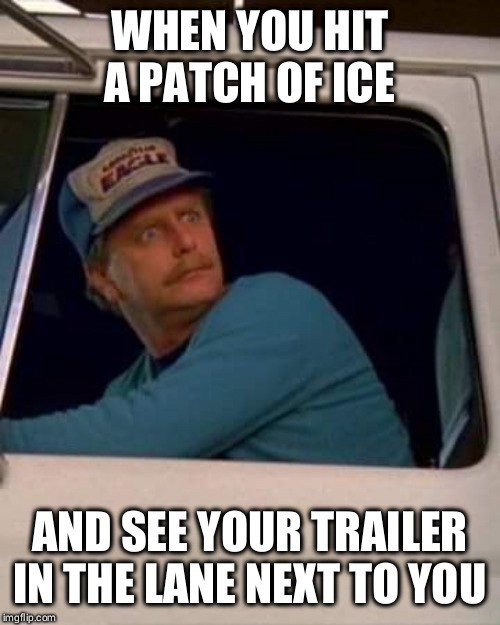 Truck Memes -Trailer on Ice