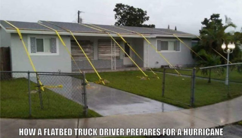 Truck Memes - Trucker in a Hurricane