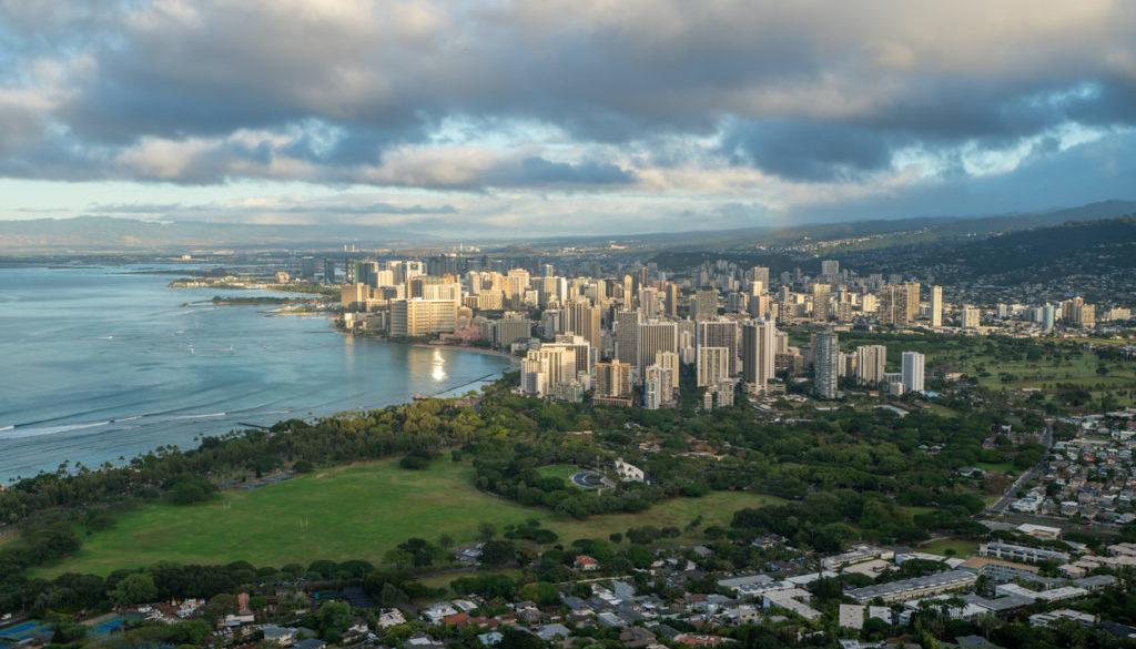 Honolulu city, Waikiki, Oahu, Hawaii