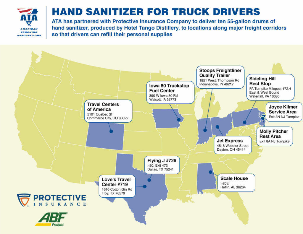 TruckStops Sanitizer Map