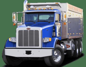 Blue dump truck - about us
