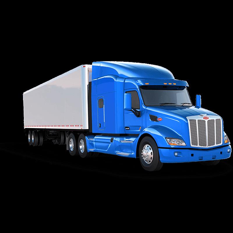 semi truck leasing blue truck right