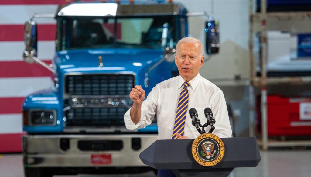 Joe Biden Speaks at Mack Trucks Plant